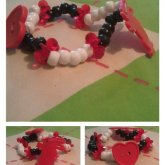 Black,white And Red Bunny And Heart Single