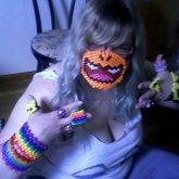 My Sister Modeling Some Of My Kandi XD