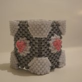 Companion Cube Cuff In Real Colors