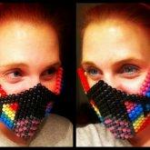 Rainbow Striped Mask