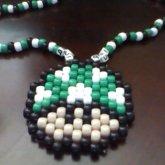Kandi Mario Mushroom Necklace