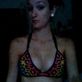 Fabulous Rainbow Leopard Bikini I Made :)