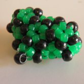 Green And Black 3D Heart