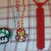 1Up Mushroom, Iron Man, And Red Tie Necklaces