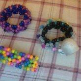 2 3D Cuffs And A Rainbow X Based Cuff