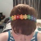 Rainbow Flower Head Band