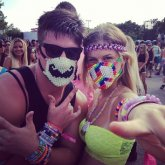 Mustache Mask and Peace Sign Masks