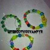 YETI , I <3 U Rainbow, SCENT With Glass Smiley Face Bead