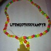 Star Sponge Necklace