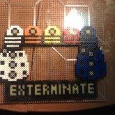 Doctor Who Exterminate Perler Frame