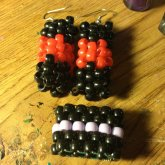 Tube Earrings And Ring