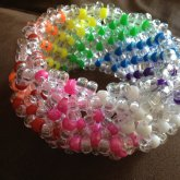 Clear And Rainbow 3D Cuff