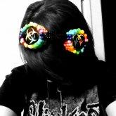 Rainbow Biohazard Goggles