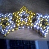 Gold And Silver Star Cuff