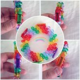 Rainbow 3D Ladder Stitch Crayon Cuff