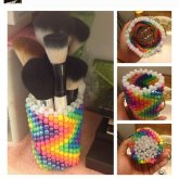 Zigzag Rainbow Brush Holder