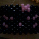 Black And Glow-in-the-dark Pink Hello Kitty Face Cuff