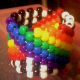 Bouncing Rainbow Cuff