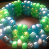 Blue And Green 3D Cuff