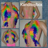 Rainbow Feather Kandi Top