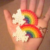 Rainbow Perler Bead Earrings