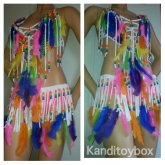 Rainbow Feather Kandioutfit
