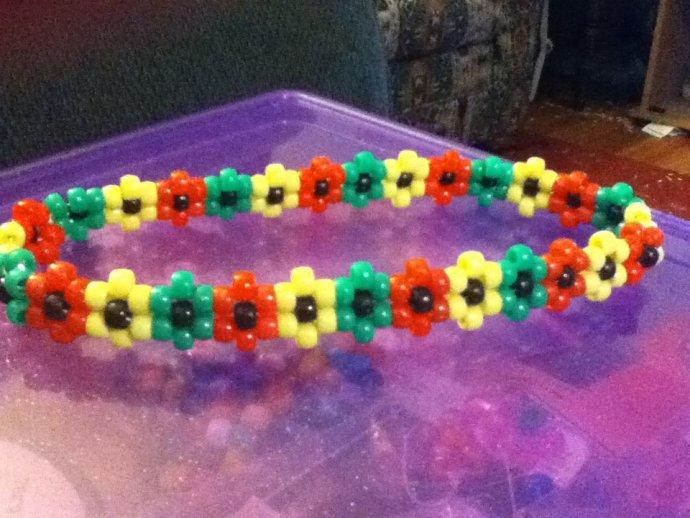 rasta flower headband by Liliarayne - Kandi Photos on Kandi Patterns 639b690b67e