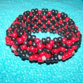 Black And Red 3D Cuff