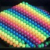 Neon Rainbow Kandi Mask