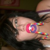 Rainbow Binky Necklace <3