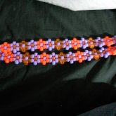 Purple And Orange Flower Headband 1