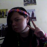Purple And Orange Flower Headband 2