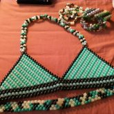 Camo Inspired Kandi-kini/bra, Singles And Cuffs