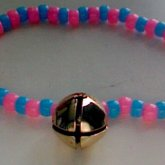 Cotton Candy Colors Cat Bell Choker