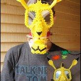 Pikachu Full Face Kandi Gas Mask