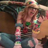 Me With Some Of My Kandi (: