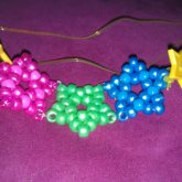 Pink,green,and Blue Star Necklace