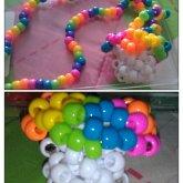 Rainbow Mushroom Necklace