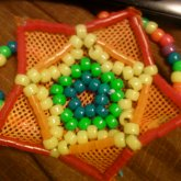 Kandi Mesh Flower Star Bracelet
