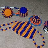 My Orange And Blue Kandi Collection. ^_^