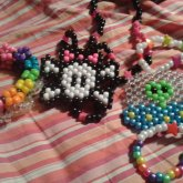Rainbow Disk Cuff, Girly Skull Necklace, And Alien UFO Necklace!!
