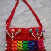 Rainbow Lollipop Purse