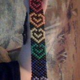 Rainbow Heart Tie