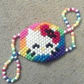 Hello Kitty Rainbow Kandi Mask