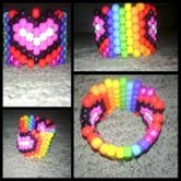 Rainbow/Heart Cuff