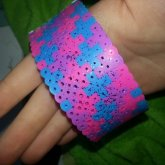 Glitter Cotton Candy Perler Cuff