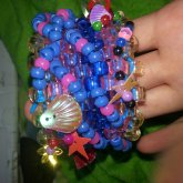 Blue.and Pink Random Sequin Cuff
