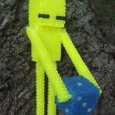 Yellow Enderman And A Die