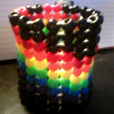 Black/Wavy Rainbow Herringbone Cuff