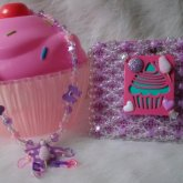 Purple Cupcake & Cotton Candy Wallet